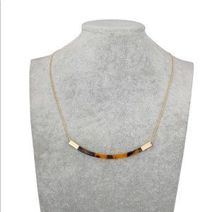 NEW Acrylic Tortoiseshell Bar Necklace